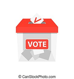 Voting concept in flat style