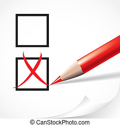 Voting concept:no - Editable vector illustration