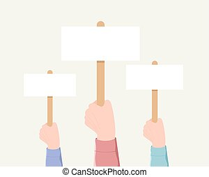 Voting, demonstration, minting concept.