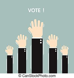Voting elections, flat design, vector