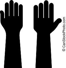 Voting hands shape