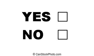 Voting No - Computer generated image. White background.