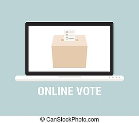 Voting online concept. Flat style