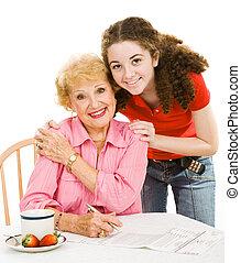 Voting Series - Grandmother & Teen