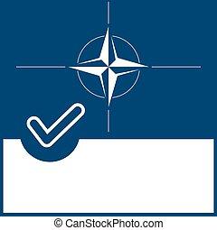 Voting symbol Nato flag - Voting symbol on Nato flag...