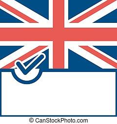 Voting symbol United Kingdom flag - Voting symbol on United...