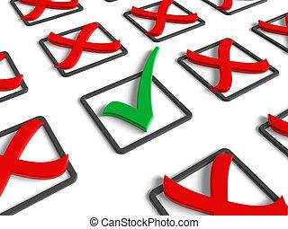 voting/survey, concept