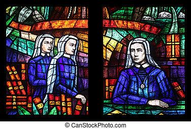 votiv, (the, vidrio, manchado, áfrica, votive, ventana, ...