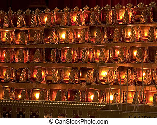 Votive Candles - This is a shot of some flaming votive...