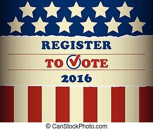 voto, 2016, eua, registo