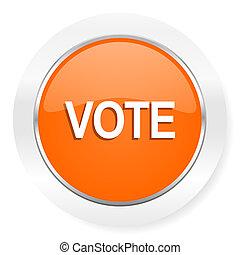 voto, arancia, icona computer