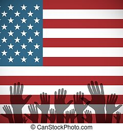 voto, arte, eua, alfinete, bandeira