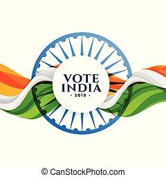 voto, bandera, india, elección, plano de fondo