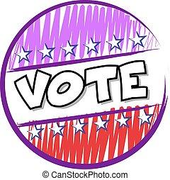 voto, botão, eua