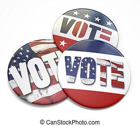 voto, bottone