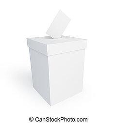 voto, caja, forma