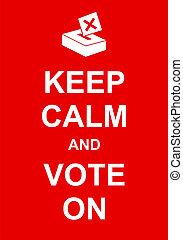 voto, calma, retener
