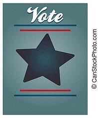 voto, cartaz, fundo