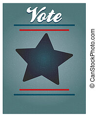 voto, cartel, plano de fondo