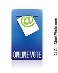 voto, concepto, diseño, ilustración, en línea