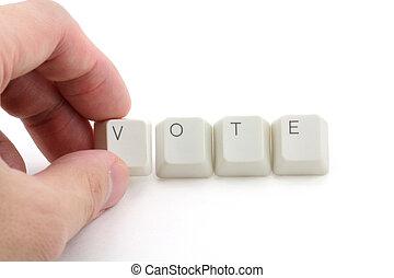 voto, concepto, en línea