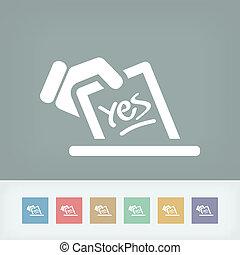 voto, concepto, icono