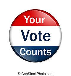 voto, condes, su, botón
