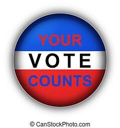 voto, conta, seu