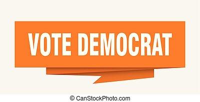 voto, democrata