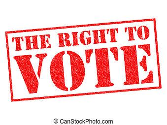 voto, derecho