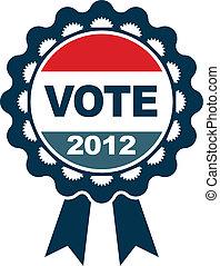 voto, distintivo, 2012