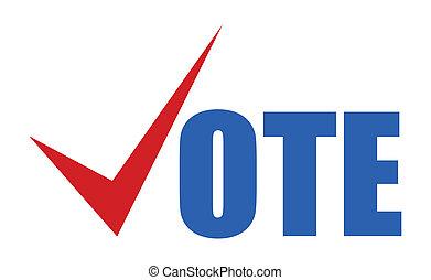 voto, -, eleição, dia, vetorial, sinal