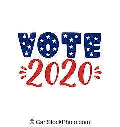 voto, -, elemento, 3., nosotros, noviembre, norteamericano, 2020, presidencial, unido, elección, states., día, patriótico, election.