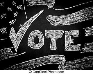 voto, em, americano, eleição