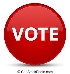voto, especiais, vermelho, redondo, botão