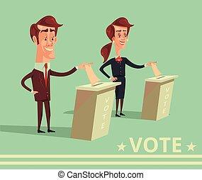 voto, gente, candidatos