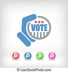 voto, icono