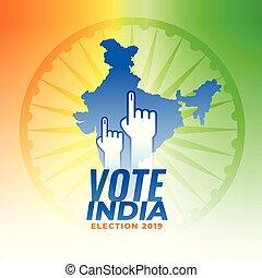 voto, india, elección, plano de fondo