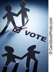 voto, instrumentos de crédito la cadena, hombres