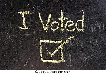 voto, lavagna, scritto
