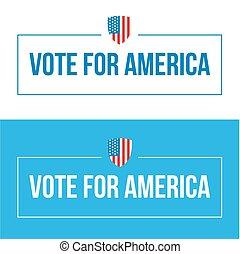 voto, lettering, américa