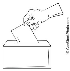 voto, mão
