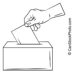 voto, mano