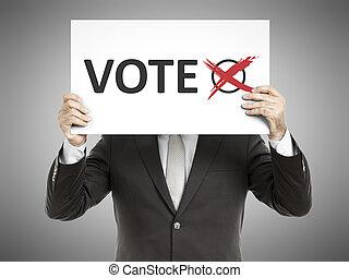 voto, messaggio, uomo affari
