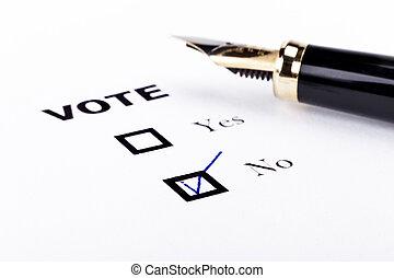 voto, não