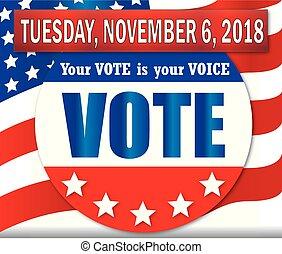 voto, novembre, martedì, 6, 2018