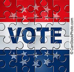 voto, organización, político