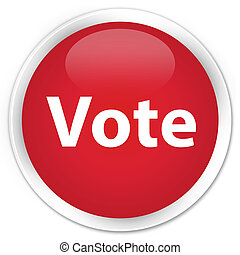 voto, prêmio, vermelho, redondo, botão