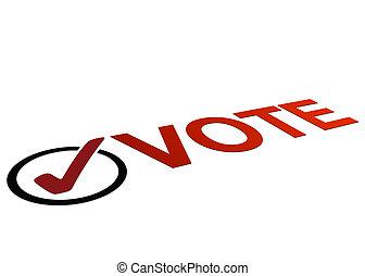 voto, prospettiva, segno