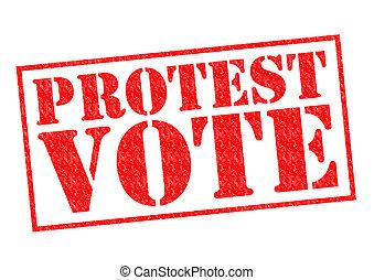 voto, protesta